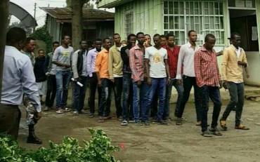 ZAAU20 students in Menagesha court.