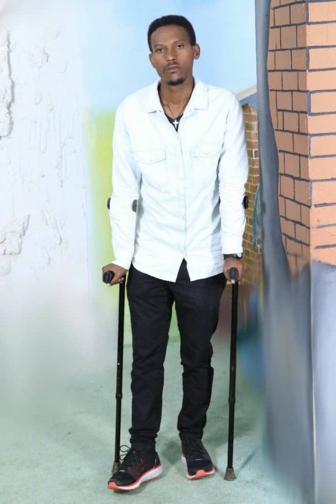 Yonas Gashaw, a victim of human rights abuse in Ethiopia's prison.